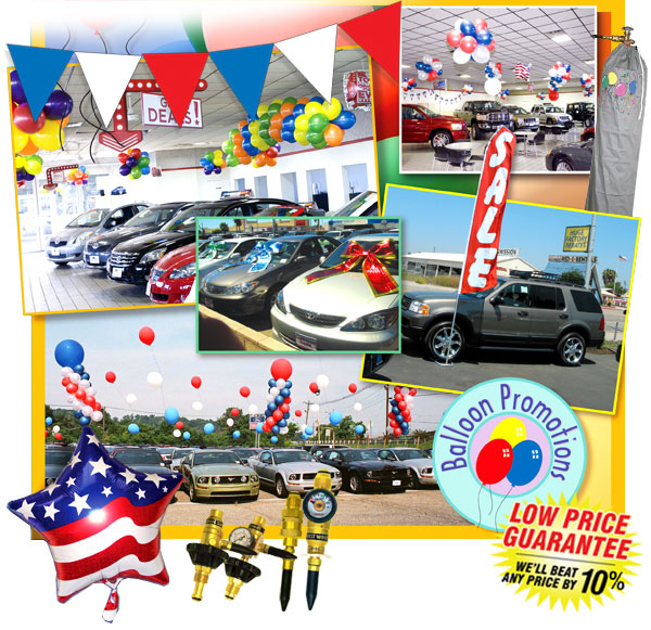 Wholesale Balloon Supplies & Accessories for Auto Dealers