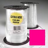 Curling Ribbon Fuchsia - 1,500' of 3/16'' Ribbon - 1 Roll Per Unit