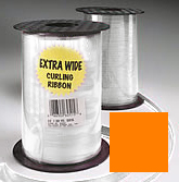 Curling Ribbon Orange - 1,500' of 3/16'' Ribbon - 1 Roll Per Unit
