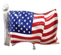 Patriotic  - 27'' Mylar American Flag Shape - 5 Per Unit