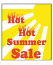 12'' X 18'' Hot Hot Summer Sales - 12'' X 18'' Poster - 1 Per Unit