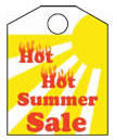 8 1/2'' X 11'' Hot Hot Summer Sales - 8 1/2'' X 11'' Hanging Event Tags - 1 Per Unit