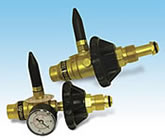 Deluxe Regulator Valve (With Gauge) - Heavy Duty Brass Valve - 1 Per Unit