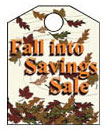 8 1/2'' X 11'' Fall Into Savings - 8 1/2'' X 11'' Hanging Event Tags - 1 Per Unit
