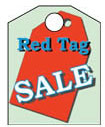 8 1/2'' X 11'' Red Tag Sale - 8 1/2'' X 11'' Hanging Event Tags - 1 Per Unit