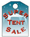 3'' X 4'' Super Tent Sale - 3'' X 4'' Event Tags - 100 Per Unit