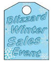 8 1/2'' X 11'' Blizzard Winter Sales Event - 8 1/2'' X 11'' Hanging Event Tags - 1 Per Unit