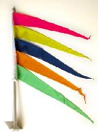 Window Pennant Fluorescent Multi Color - Window Pennant Fluorescent Multi Color - 1  Per Unit