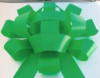 Jum Bow -Green - 30'' wide with two 30'' long x 4 1/2'' wide tails
