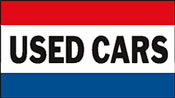 3x5 Used Cars Flag - 3' X 5' Nylon Stock Flag - 1 Per Unit